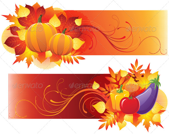 GraphicRiver Harvest Banners 5058946