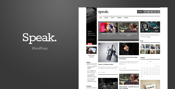 Speak - Magazine WordPress Theme