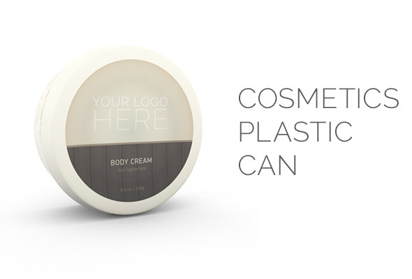 Cosmetics Plastic Can