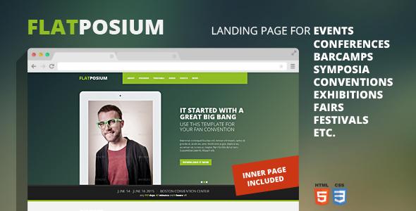 Flatposium - Responsive Event Landing Page