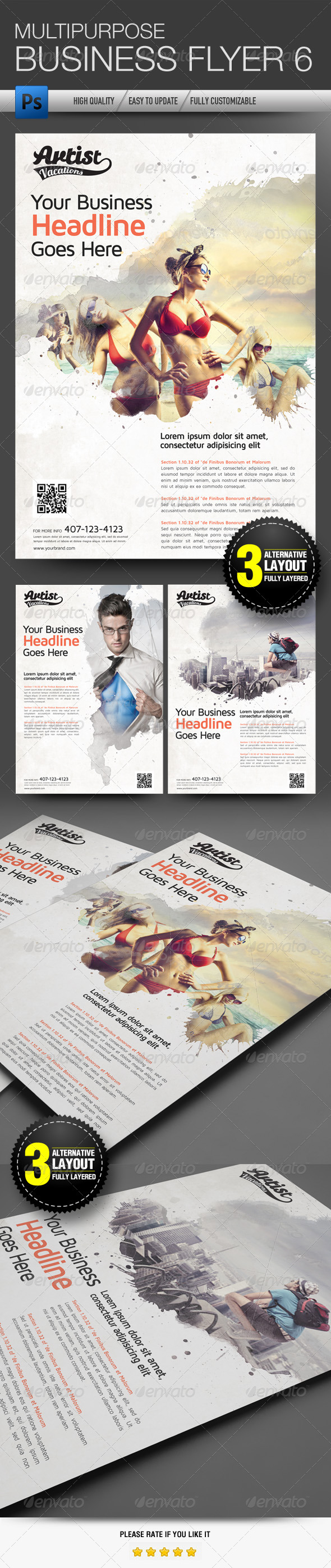 GraphicRiver Multipurpose Business Flyer 6 5059142