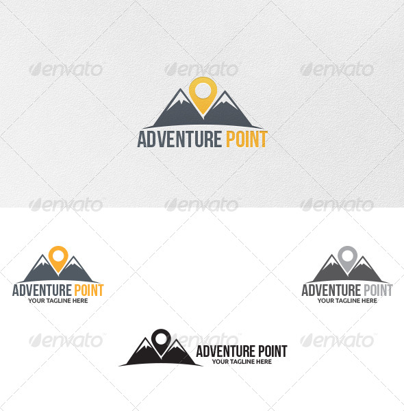 GraphicRiver Adventure Point Logo Template 5059154