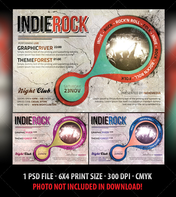 GraphicRiver Vintage Indie Rock Flyer 5059156