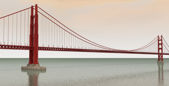 The Golden Gate Bridge - 3DOcean Item for Sale