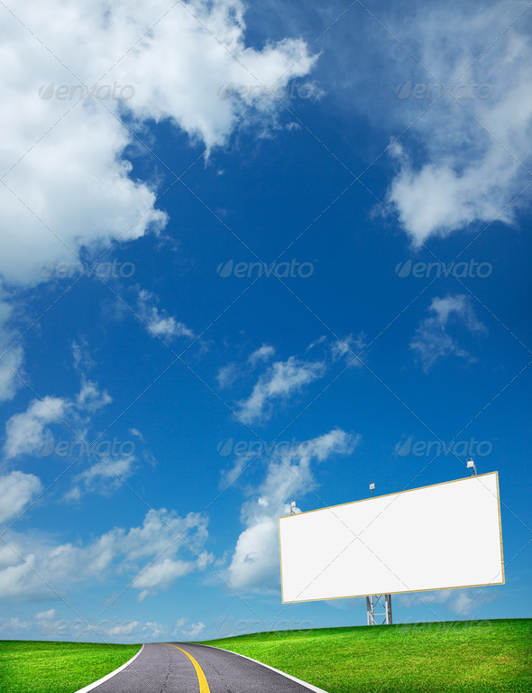 Stock Photo - PhotoDune Highway and blank billboard 520334