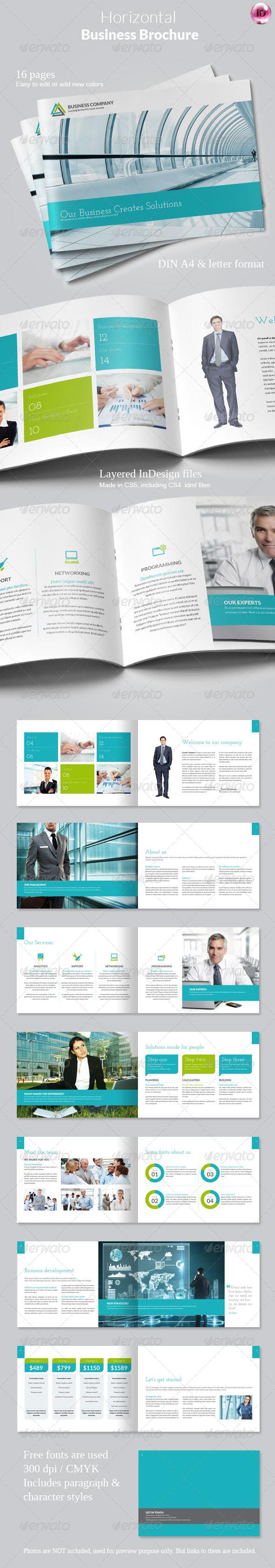 GraphicRiver Horizontal Business Brochure 5059832