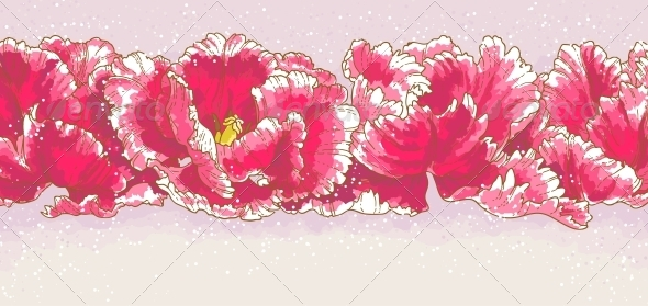 GraphicRiver Background with Three Red Tulips 5059890