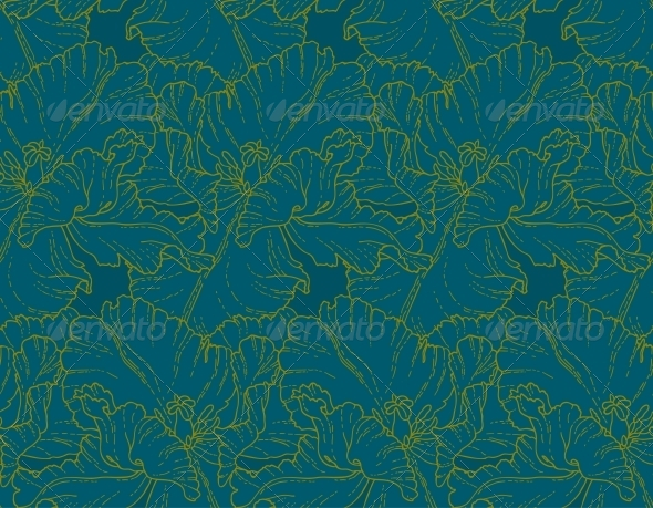 GraphicRiver Seamless Pattern with Tulips 5059894