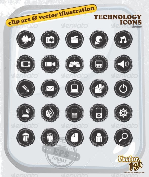 GraphicRiver Various Technology Icon Set 5060119