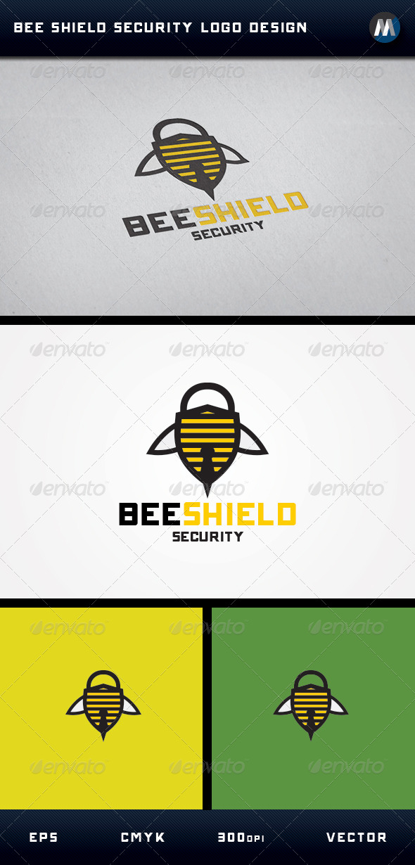 GraphicRiver Bee Shield Security Logo 5053150