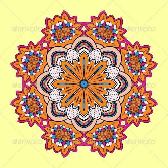 GraphicRiver Circle Lace Steampunk Ornament 5060170