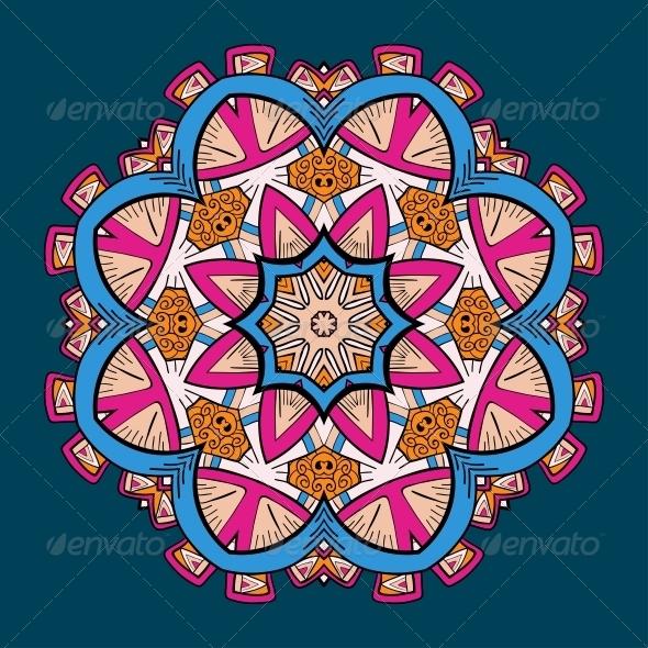 GraphicRiver Circle Lace Steampunk Ornament 5060179