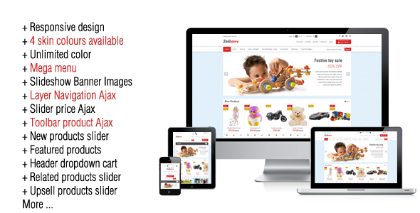 Doll Store Responsive Magento Theme - Shopping Magento