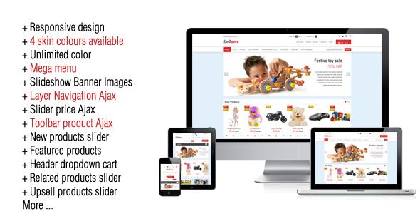 ThemeForest Doll Store Responsive Magento Theme 5060349