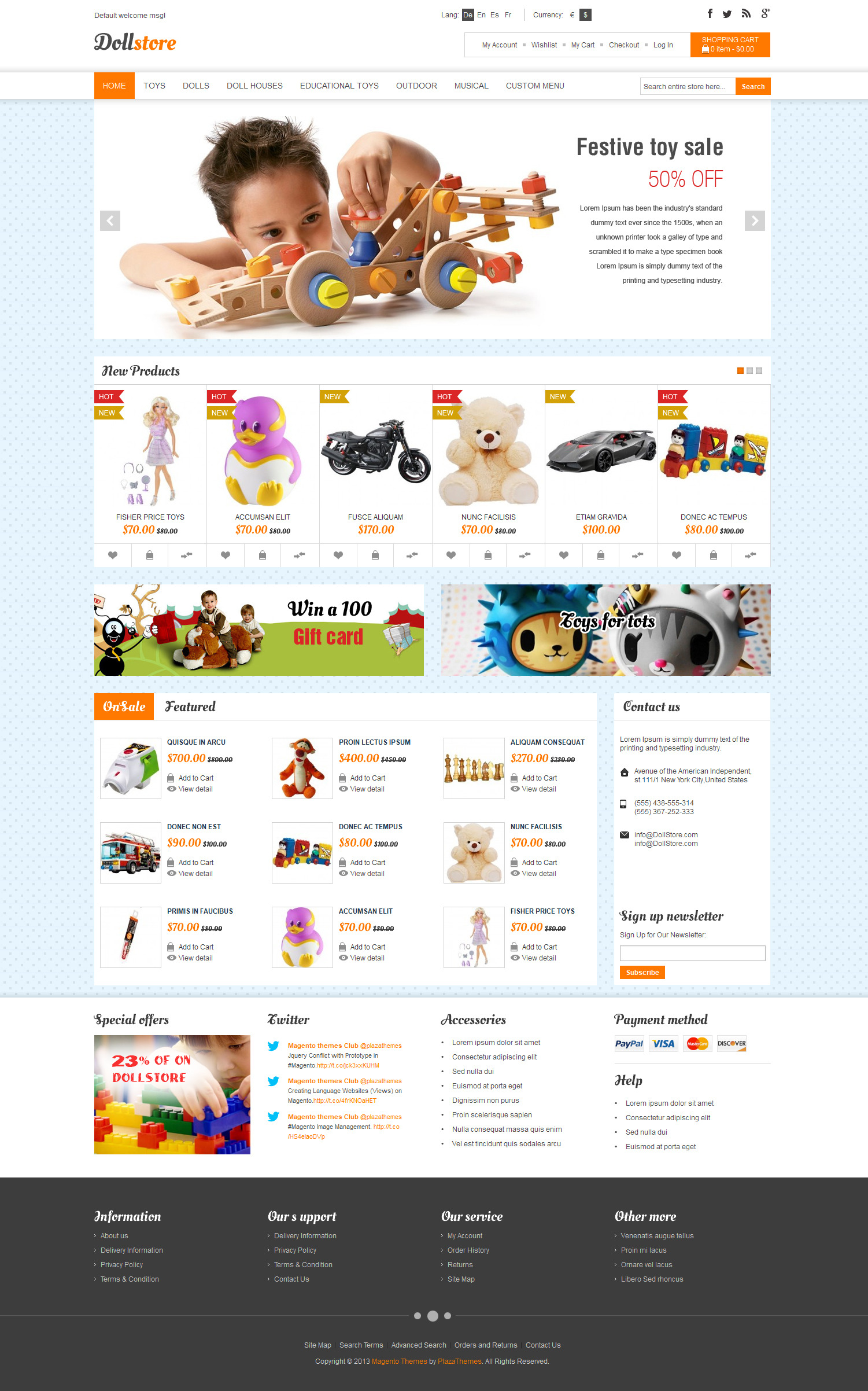 Doll Store Responsive Magento Theme