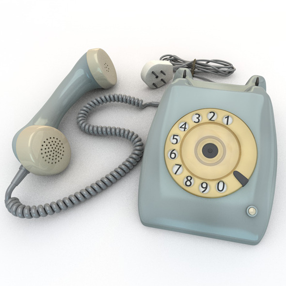 Old Rotary Dial Telephone - 3DOcean Item for Sale