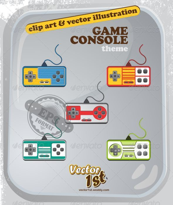 GraphicRiver Game Console Set 5052996