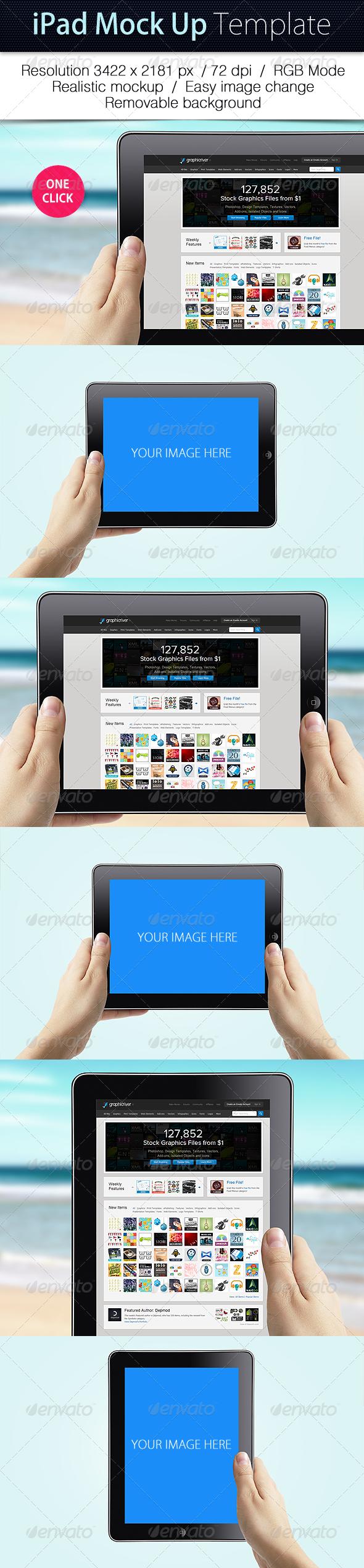 GraphicRiver iPad Mockup Template 5060766