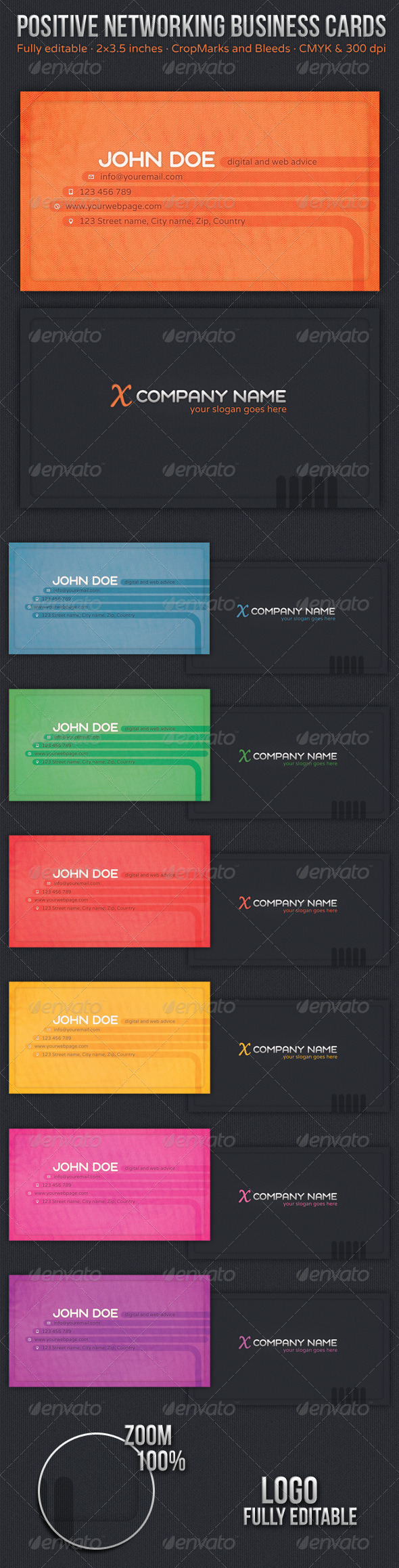 GraphicRiver Positive Networking Business Cards 4943748