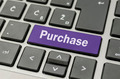 Purchase button on computer keyboard