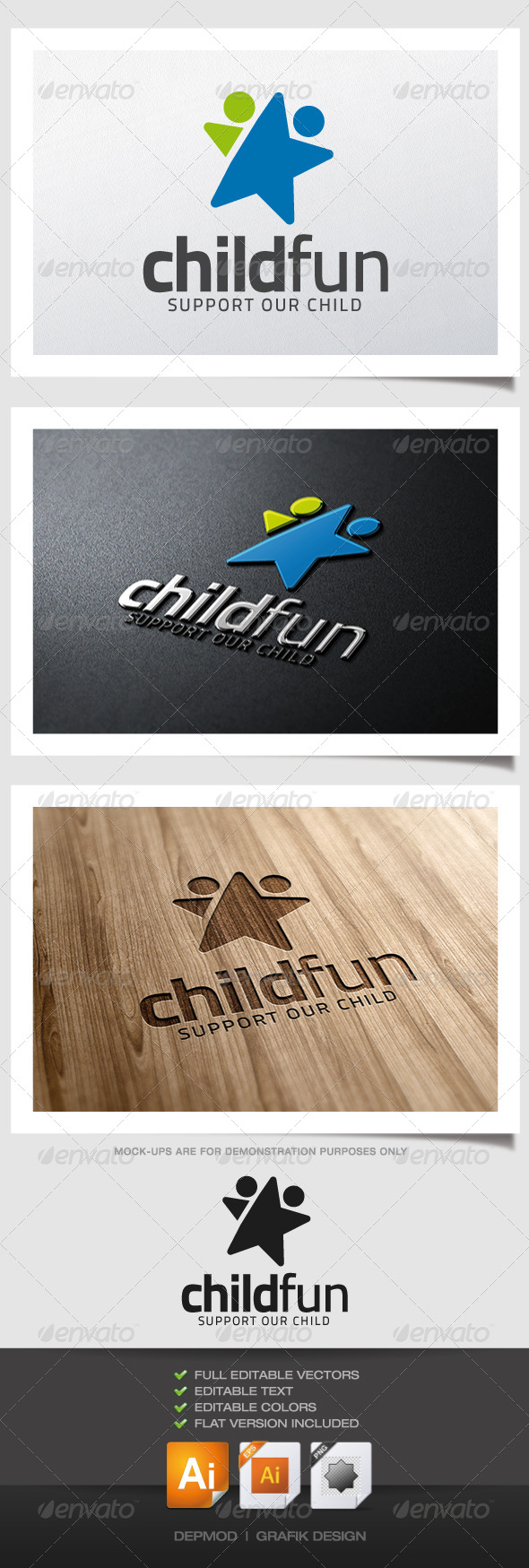 GraphicRiver Child Fun Logo 5060874