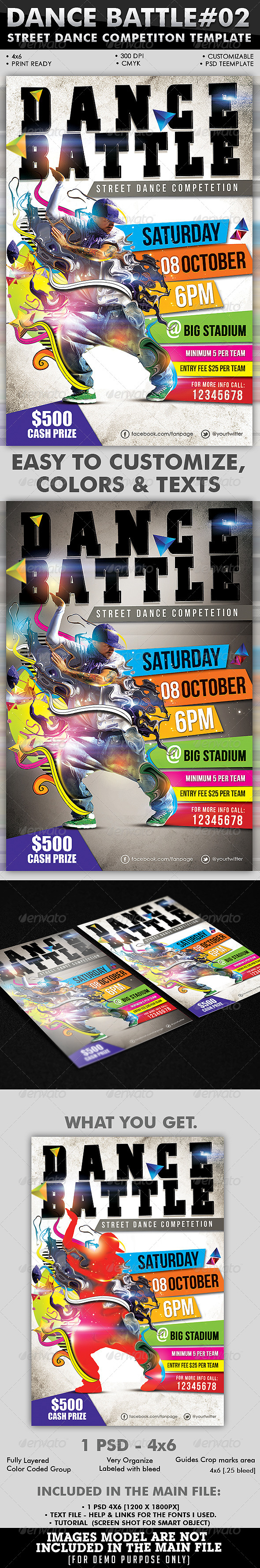 Dance Battle Flyer Template Vol_02  - Events Flyers