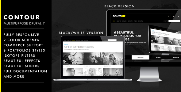 Contour - Multipurpose Creative Drupal 7 Theme