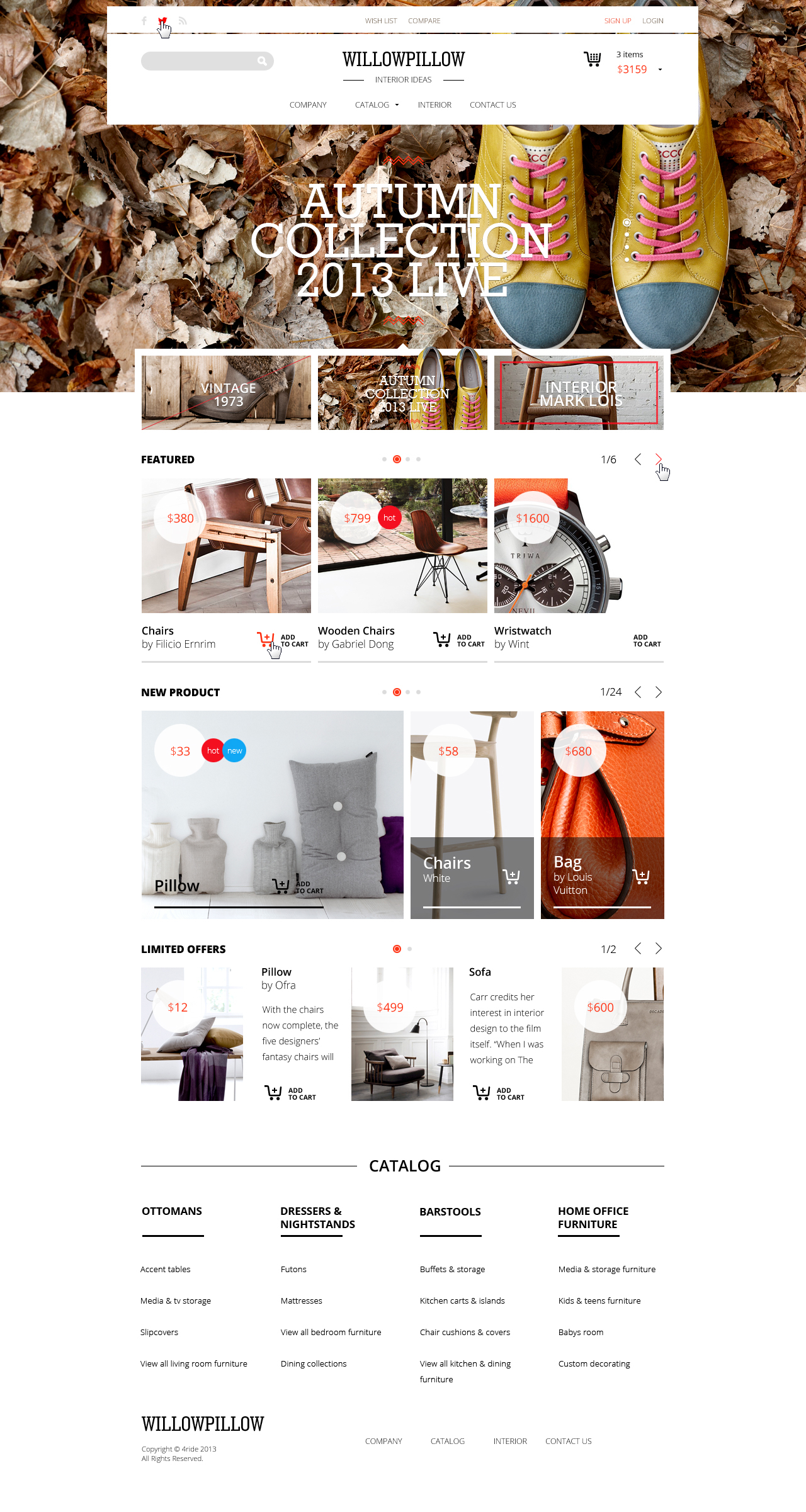 WillowPillow - eCommerce PSD Template