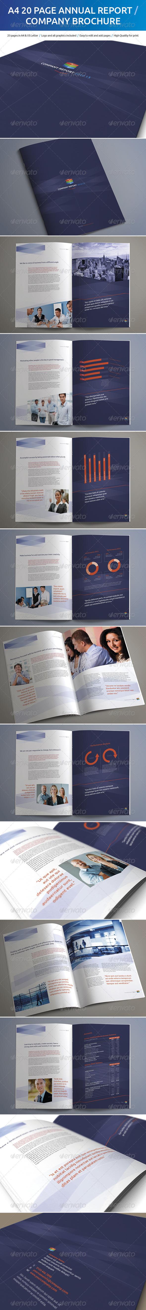 GraphicRiver A4 20 Page Annual Report Company Brochure 5061398
