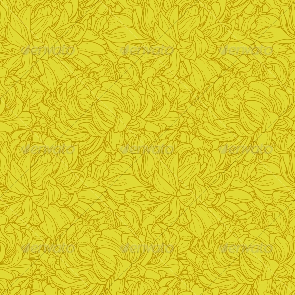 GraphicRiver Seamless Pattern with Chrysanthemum 5061496
