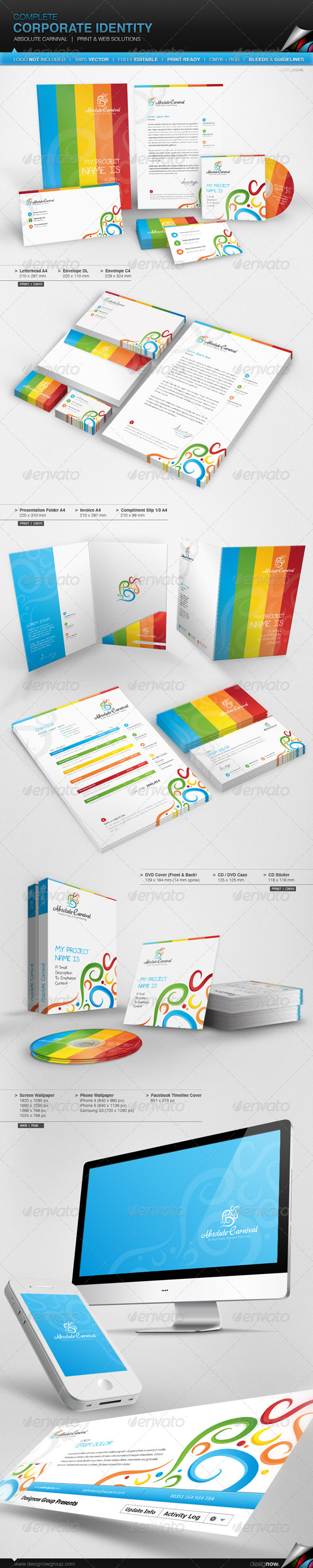 GraphicRiver Corporate Identity Absolute Carnival 5061727