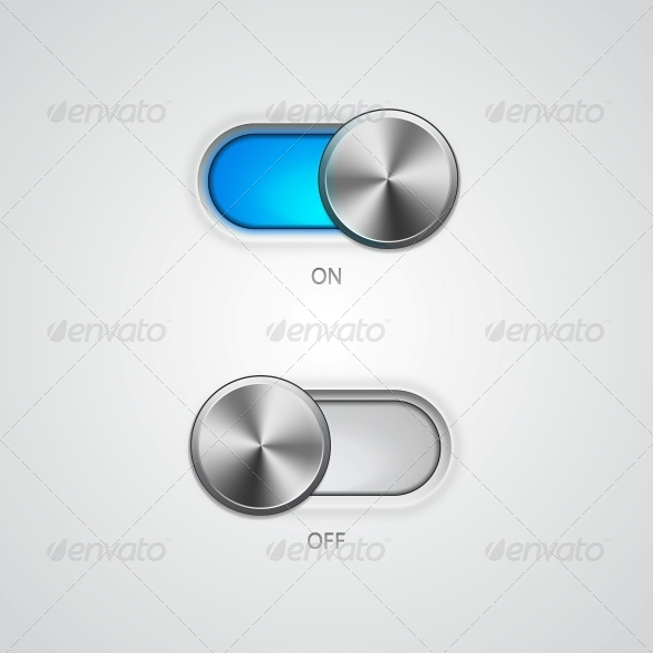 GraphicRiver Toggle Switch On and Off Position 5061759