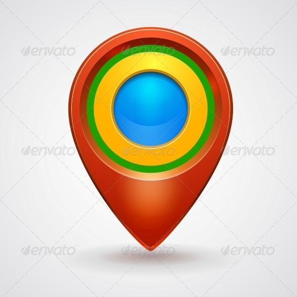 GraphicRiver Pointer Bright Colorful Glossy Icon 5061761