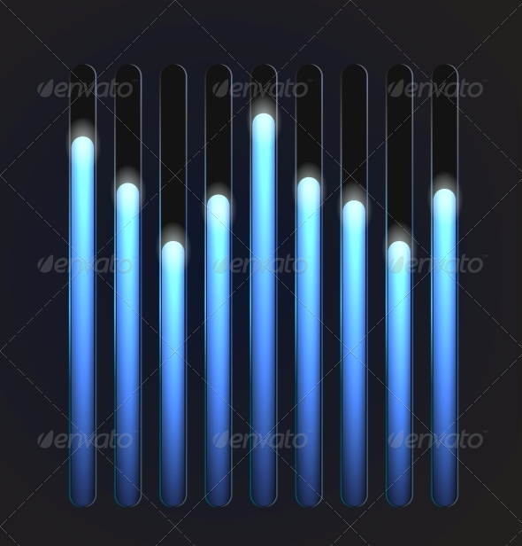 GraphicRiver Equalizer Glossy Glowing Track Bar 5061767