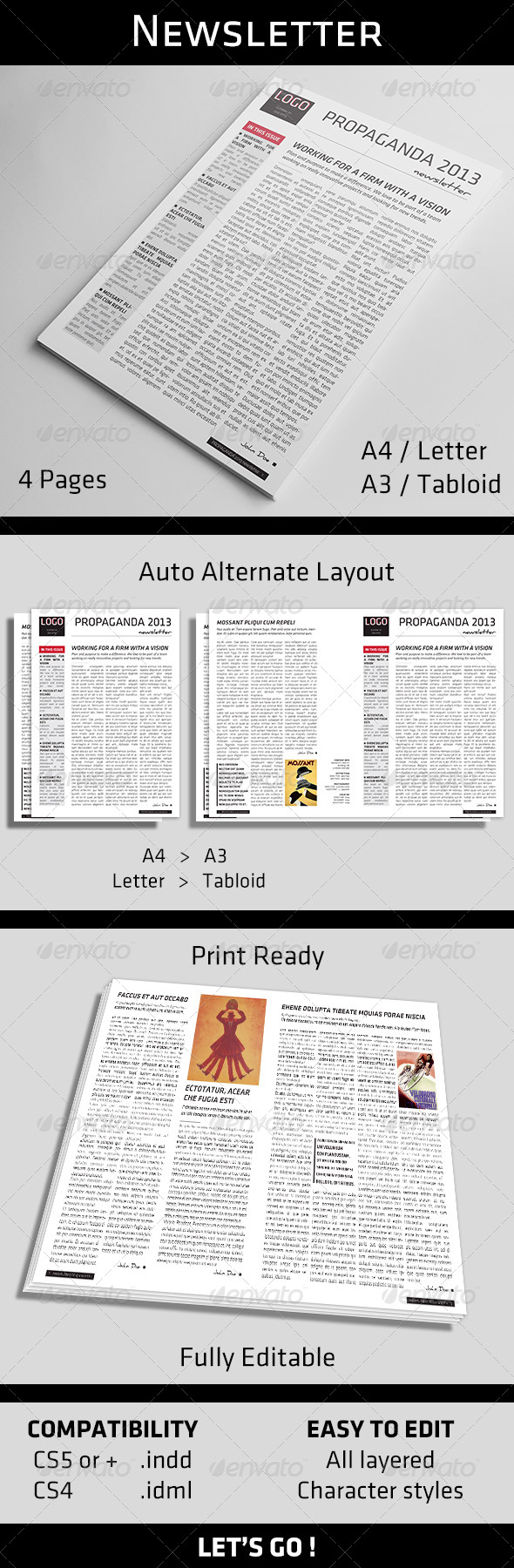GraphicRiver 4 Pages Newsletter Template 5061837