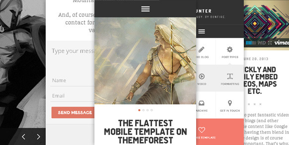 HUNTER - a retina-ready HTML5+CSS3 mobile template