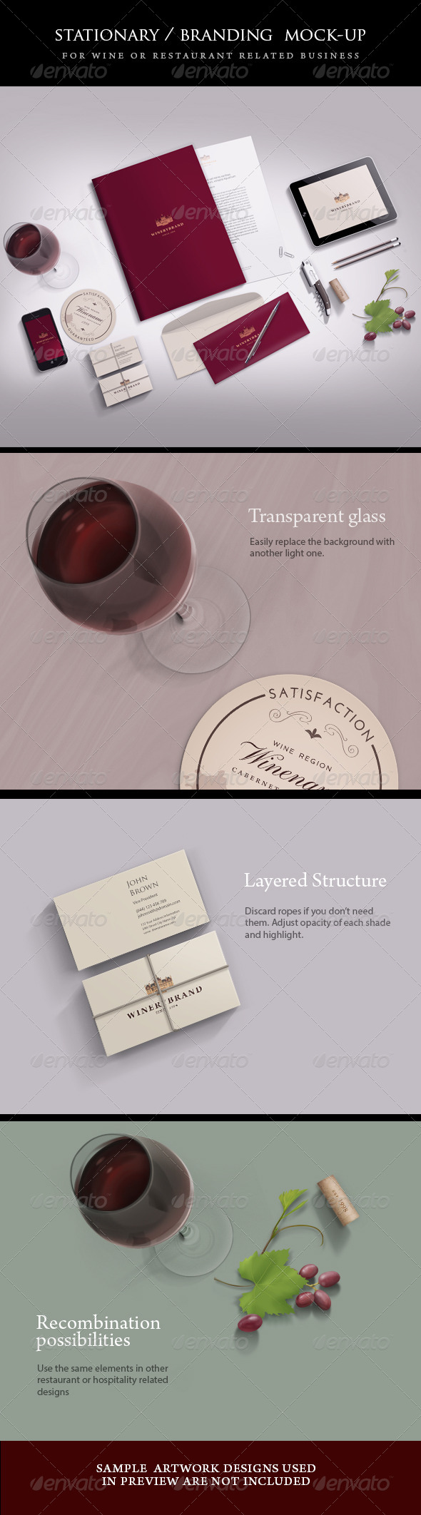 GraphicRiver Stationery Branding mock-up 5061910