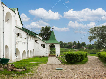 Ancient buildings in the city of Suzdal. Russia