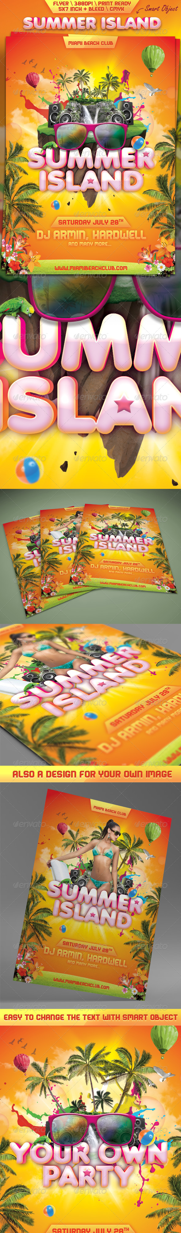 GraphicRiver Summer Island Flyer 5062286