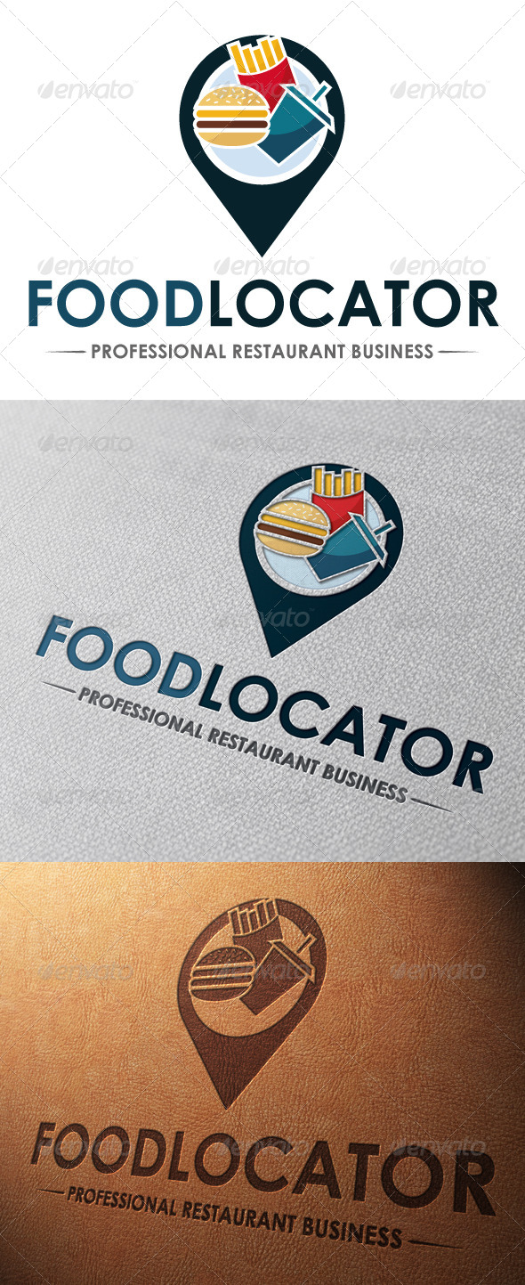 GraphicRiver Fast Food Locator Logo Template 5062290