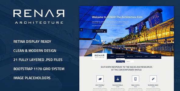 ThemeForest Renar Premium Architect PSD Template 5062295