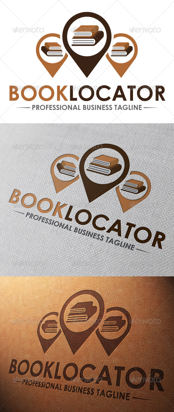GraphicRiver Book Locator Logo Template 5062387