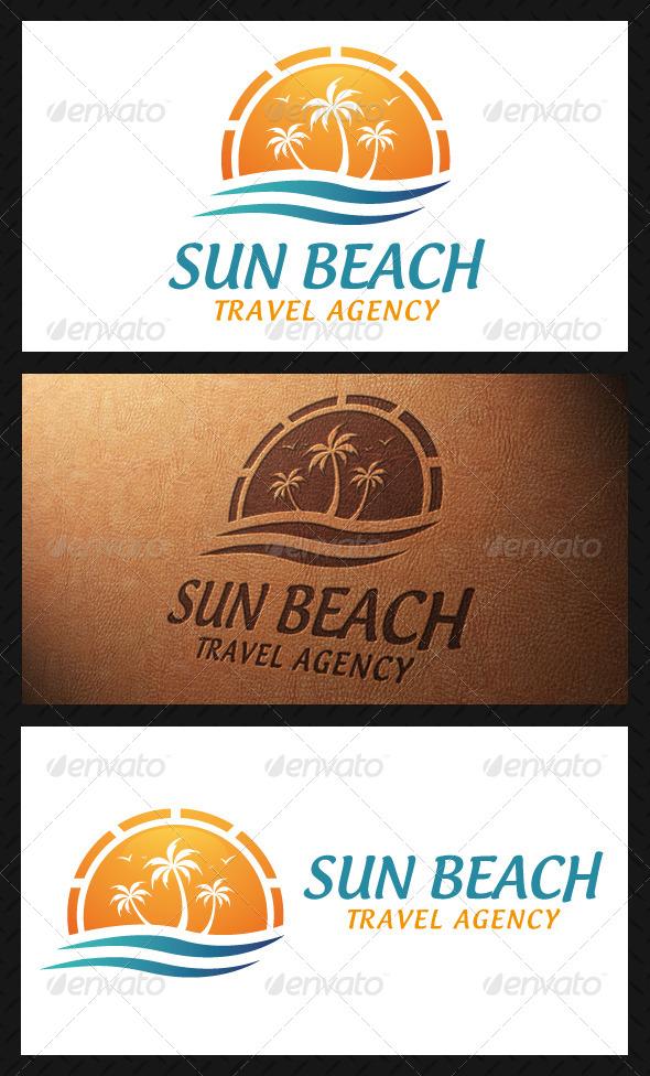 GraphicRiver Sun Beach Logo Template 5062389