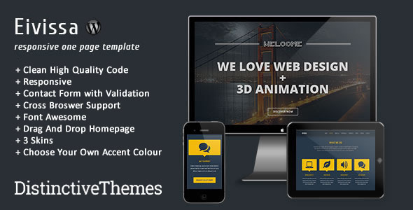 ThemeForest Eivissa Responsive One Page Template 5062408