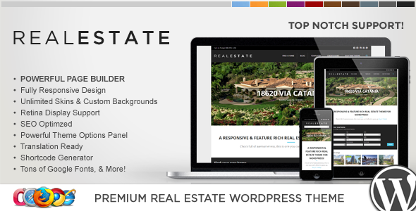 ThemeForest WP Pro Real Estate 5 Responsive WordPress Theme 5062561