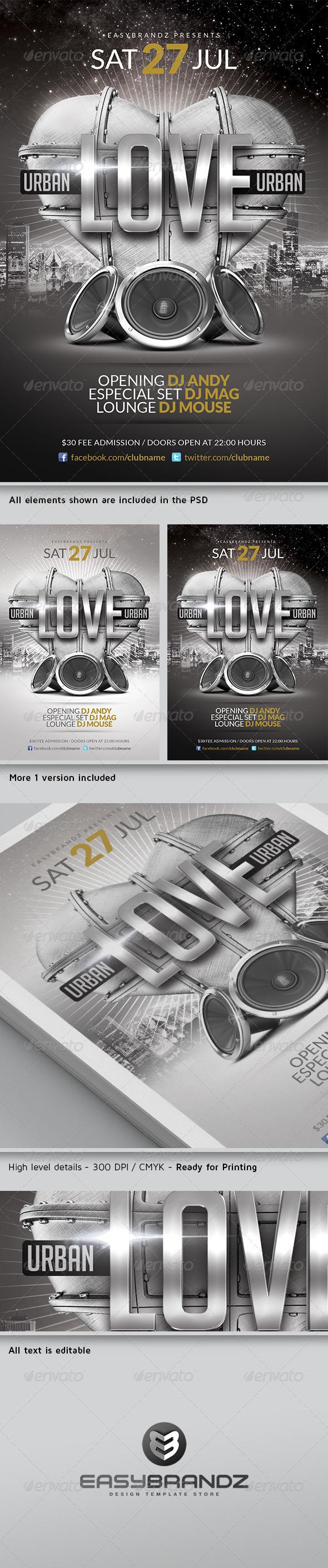 GraphicRiver Urban Love Flyer Template 5062620