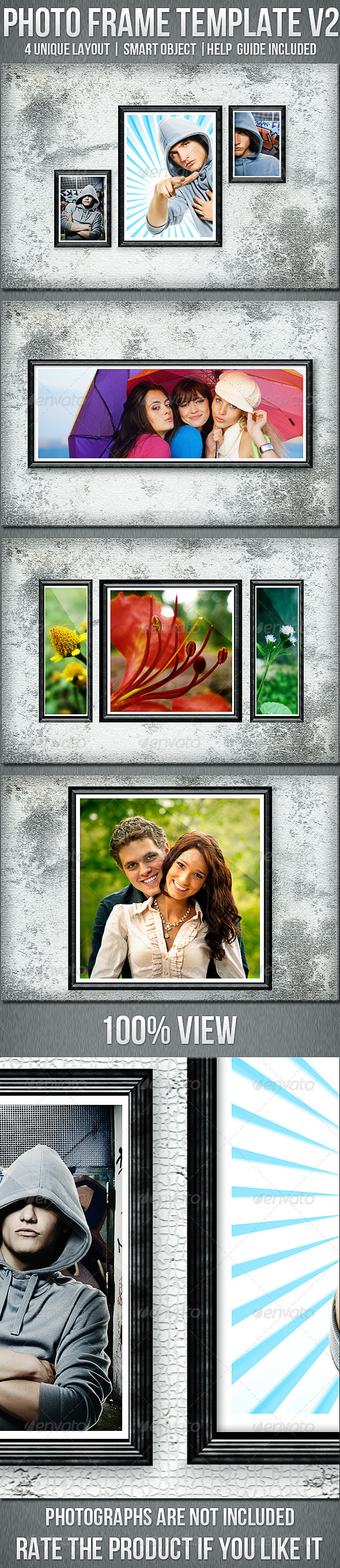 Photo Frame Templates V2 - Photo Templates Graphics