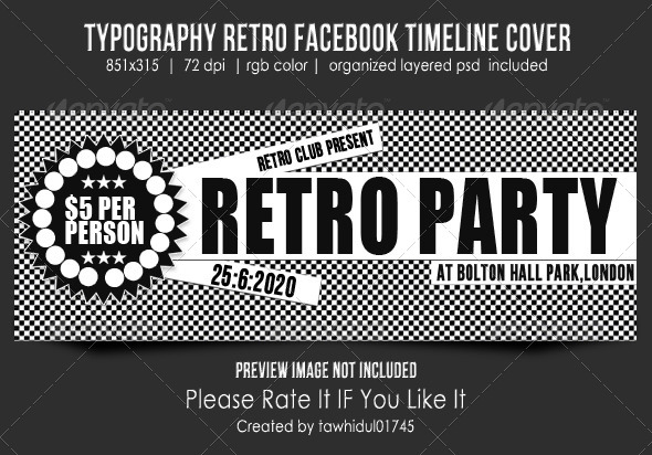 GraphicRiver Typography Retro Fb Timeline Cover 5062903
