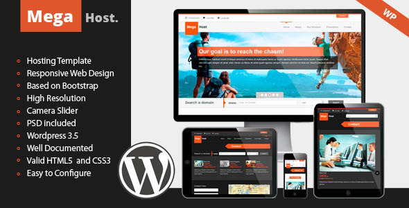 ThemeForest Mega Host Responsive Hosting Template 5021665
