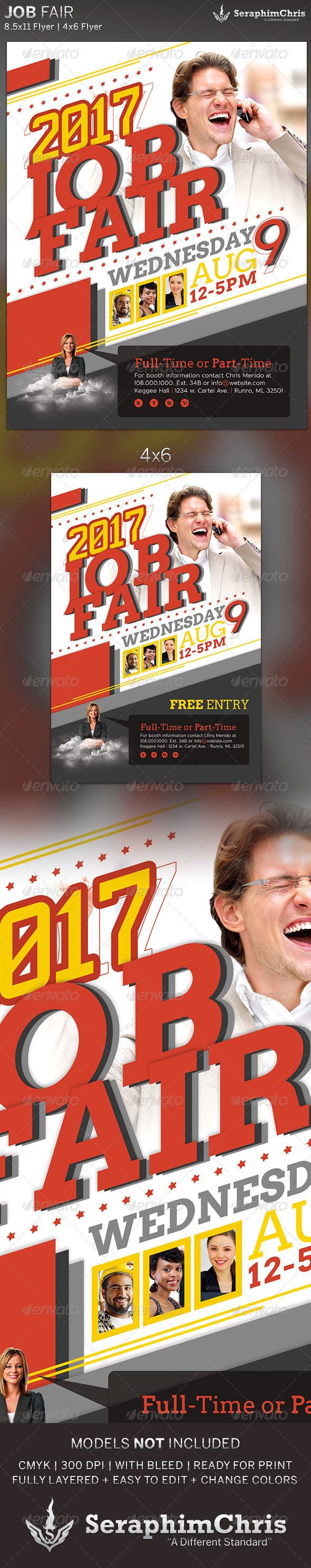 GraphicRiver Job Fair Corporate Flyer Template 5062984